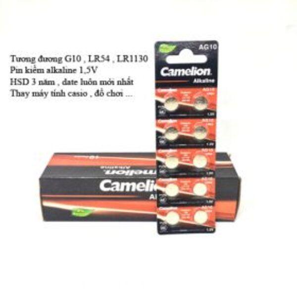 10 viên Pin AG10 Camelion chính hãng