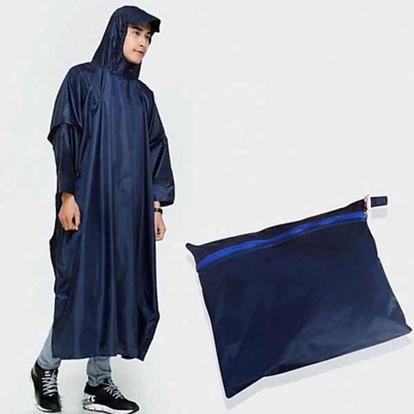 Áo mưa cánh dơi (xẻ tà) vải dù cao cấp loại lớn 1m4 - che kín 2 người mùa mưa