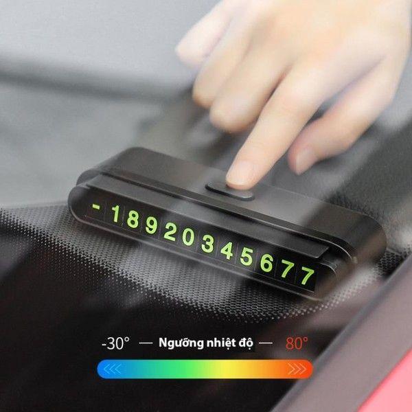 Biển báo số điện thoại trong xe Hoco CPH19 xe oto