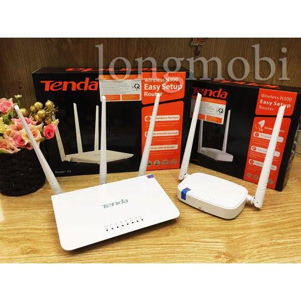 Bộ phát sóng wifi Tenda F303 Chuẩn N 300Mbps 3 anten
