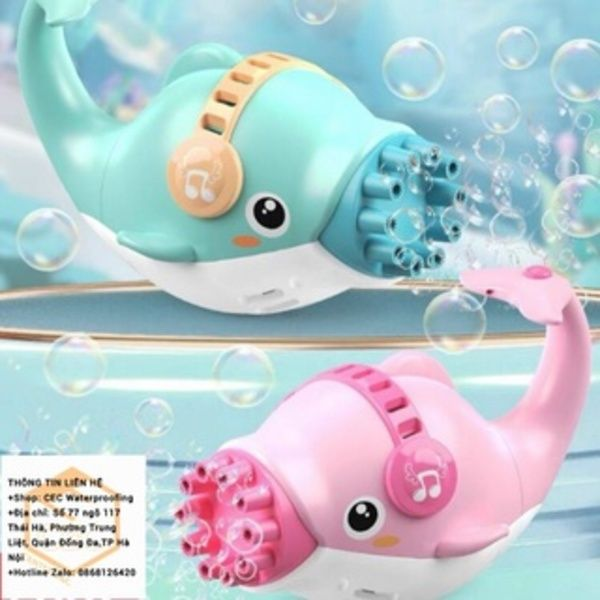 Cá heo bắn bong bóng - Đồ chơi súng bắn bóng cá heo 10 nòng