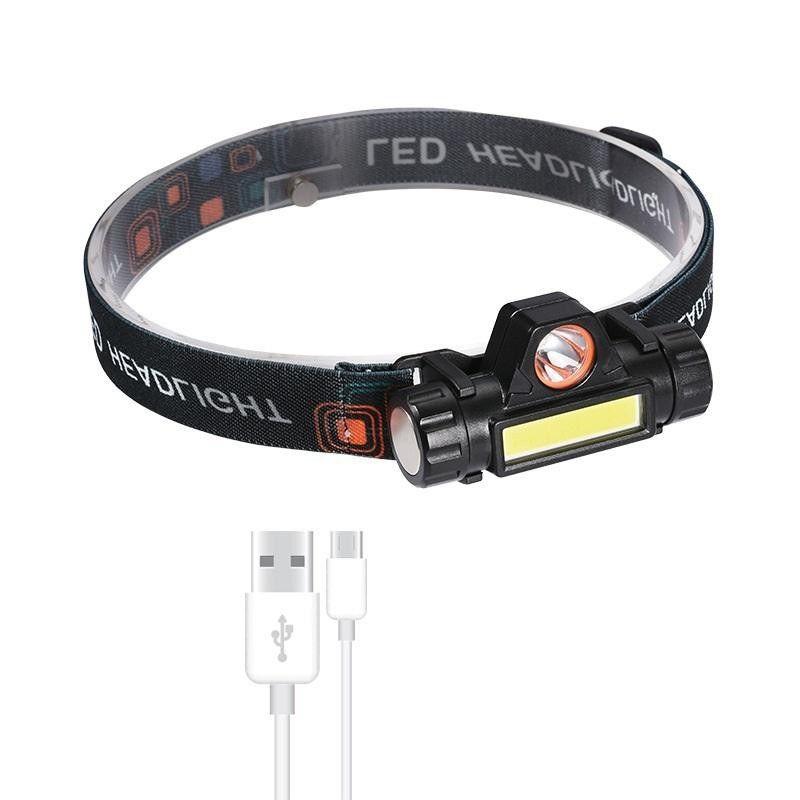 Đèn Pin Đội Đầu Siêu Sáng loại Pin Sạc Có Nam Châm Hút - Đèn pin siêu sáng B6 đa chức năng