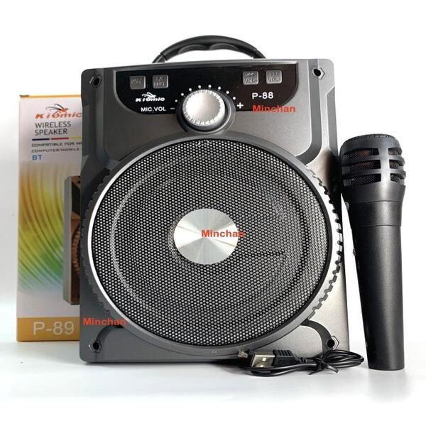 Loa Bluetooth P88 P89 Tặng Kèm Micro Karaoke Hát Cực Hay kiomic