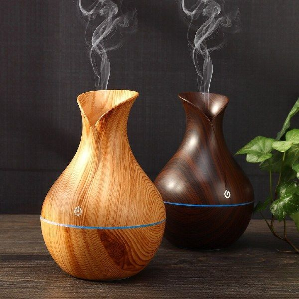 Máy phun sương tạo ẩm vân gỗ cổ cao, Máy xông tinh dầu tạo ẩm vân gỗ cổ cao
