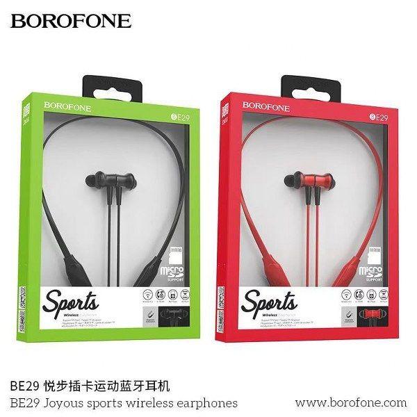 Tai Nghe Bluetooth Borofone Be29, Kiểu Dáng Thể Thao, Thiết Kế Dạng Nhỏ Gọn, Chất Lượng Cao Cấp, Kết Nối Với Bluetooth V 5.0 Hiện Đại, Chống Thấm Mồ Hôi, Pin Dung Lượng Khủng, Hỗ Trợ Chế Độ Thẻ Bt, Tf.