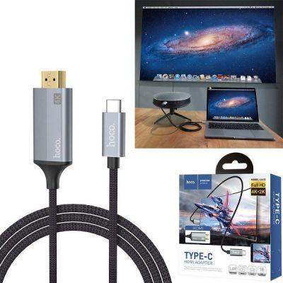 Cáp Chuyển Đổi Hoco UA13 Cổng Type C Sang HDMI Công Nghệ 4K