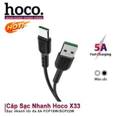 Cáp Sạc Nhanh Hoco X33 Chính Hãng Type C 5A SuperCharge Fast Charge Kích VOOC