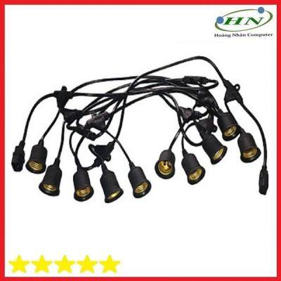 Dây Đui Đèn E27 5M 10 Đui Chống Nước (Có Đầu Nối Thêm Dây)-Dây Đuôi đèn