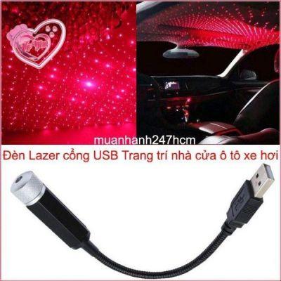 Đèn Lazer cổng USB - Đa hoa văn – Trang trí nhà cửa ô tô xe hơi siêu đẹp