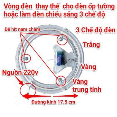 Đèn vòng thay thế cho đèn ốp tường hoặc dùng để chiếu sáng