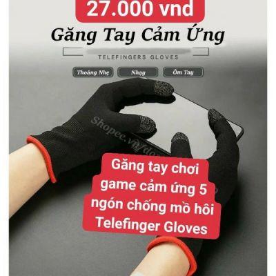 Găng tay chơi game cảm ứng 5 ngón chống mồ hôi telefinger gloves