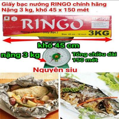 Giấy bạc nướng thực phẩm Ringo 3kg khổ 45 cm dài 150 mét nặng 3kg