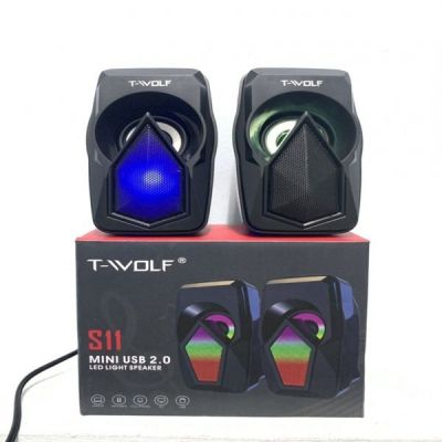 Loa vi tính 2.0 T - Wolf S11 Led 7 màu