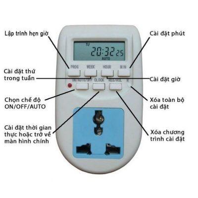 Ổ cắm hẹn giờ bật tắt tự động Digital Timer AL-06 220v 10A hàng cao cấp