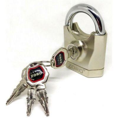 Ổ Khóa zoro thép không gỉ báo động chống cắt 4 chìa - ZORO chính hãng