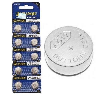 Vỉ 10 Pin cúc áo Alkaline AG13 – LR44 – A76 – SR44