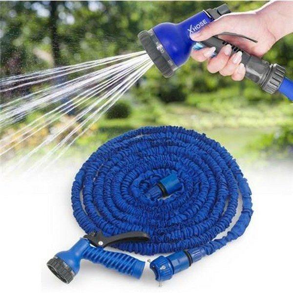 Vòi xịt rửa thông minh giãn nở MAGIC HOUSE loại 15m (xanh dương)